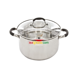 SQ Professional Stainless Steel Lustro Strain & Pour Casserole