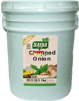 Badia Onion Chopped 15 lbs