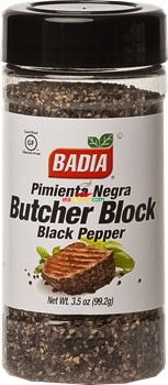 Badia Pepper Black Butcher Block 3.5 oz