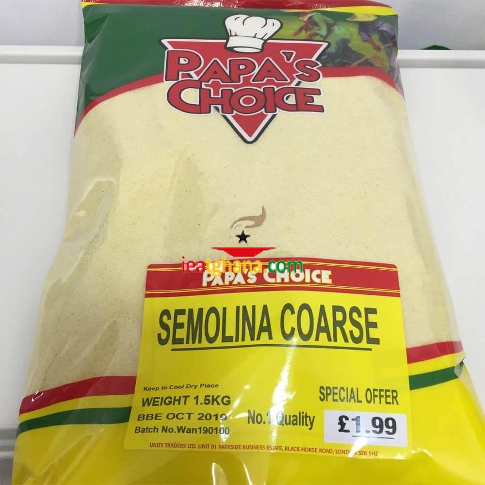 Papa's Choice Semolina Coarse 1.5Kg