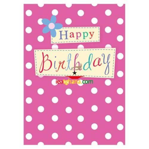 Garlanna Greeting Cards Code 50 – Birthday Polka Dot