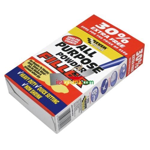 Everbuild All Purpose Powder Filler 450g +33% Extra Free