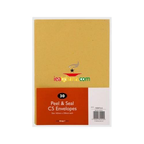 C5 Peel & Seal Manilla Envelopes 30 Pack (230mm x 162mm)