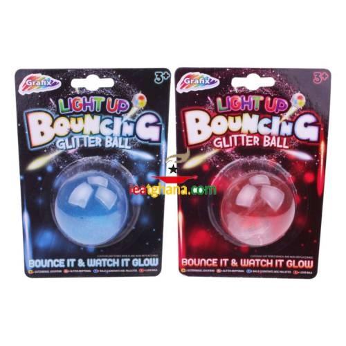 Light Up Bouncing Glitter Ball – Assorted Colours