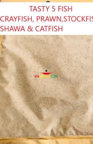 Tasty 5 Fish – A Combination Of Crayfish. Prawn. Stockfish, Shawa & Catfish